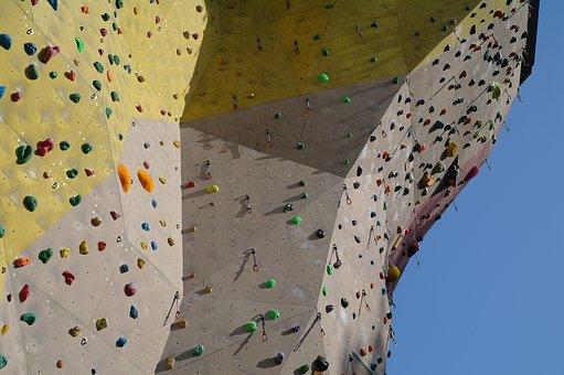 Pattern, Rock, Artificial, Climbing, Sport, Outdoors