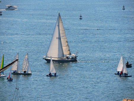 Water, Sea, Sailboat, Sail, Boat, Lake