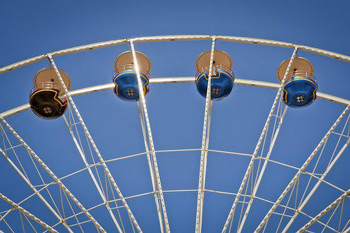 Sky, Wheel, Steel, Technology, Entertainment, Carousel
