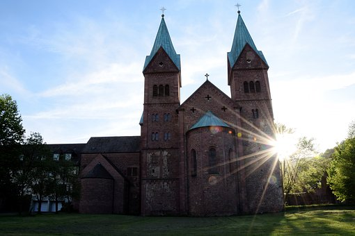 Church, Monastery Church, Steeple, Sunshine, Bavaria