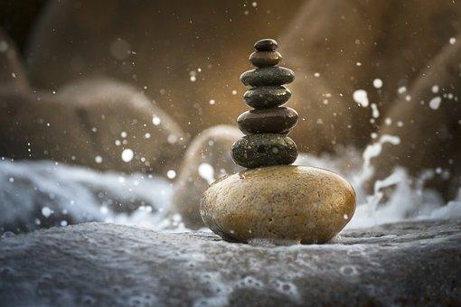 Balance, Background, Harmony, Stacked, Natural, Summer