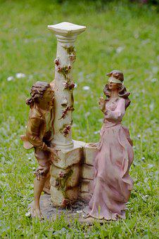 Nature, Lawn, Outdoor, Summer, Statues, Characters