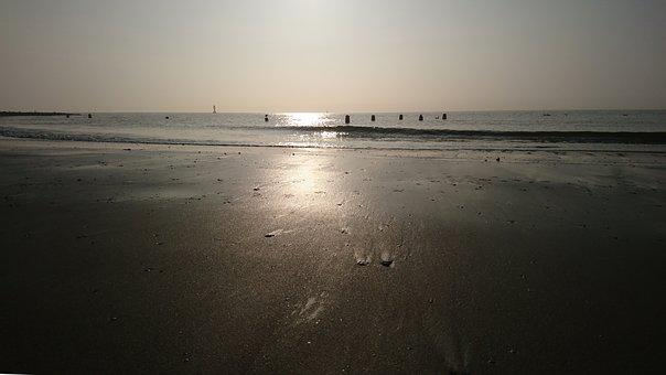 Waters, Sunset, Beach, Sea, Dawn, Dusk, Ocean