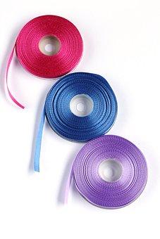 Tape, Decorative, Satin Ribbon, Roll Of Ribbon, Blue