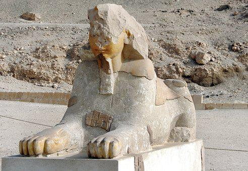 Egypt, Thebes, Valley Of The Queens, Sphynx