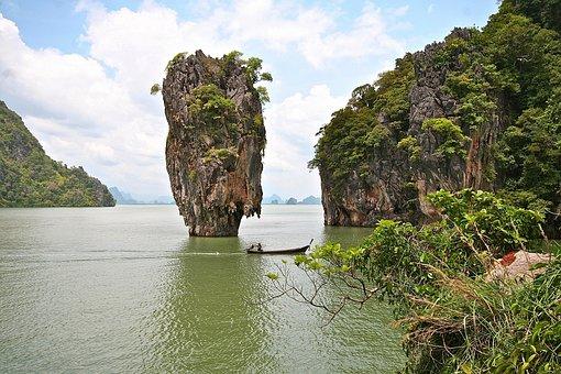 Body Of Water, Nature, Travel, Tree, Landscape, Canoe