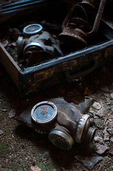 Old, Industry, Gas Mask, Abandoned