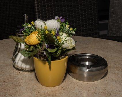 Flower, Art Flower, Fabric Flower, Pot, Vase, Ornament
