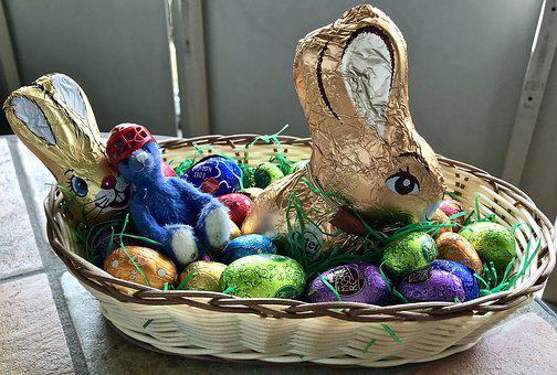 Easter, Basket, Hare, Rabbit