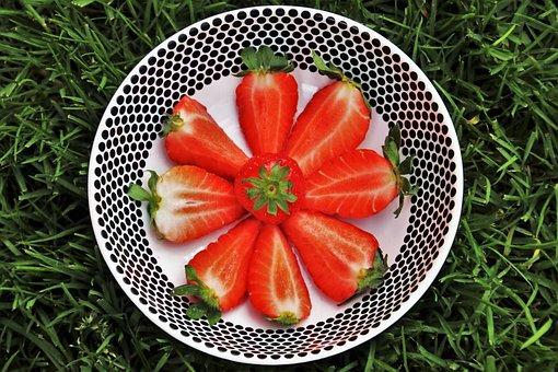 Dessert, Strawberries, Red, Healthy, Tasty, Bio, Fit
