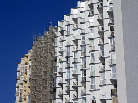 Repainting, Architecture, Building, City, Apartments