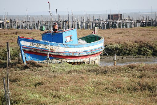 Boat, Port, Old, Portugal, Carrasqueira