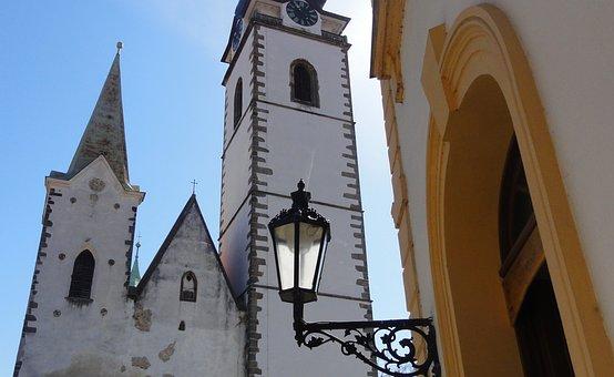 Church, Lamp, Czechia, Street, Architecture, Travel