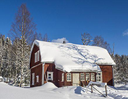 Snow, Winter, House, Hut, Cottage, Old