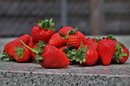 Dessert, Strawberries, Red, Diet, Bio, Fruit
