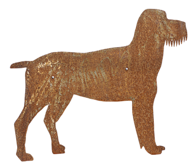 Dog, Schnauzer, Metal Figure, Figure, Decoration, Deco