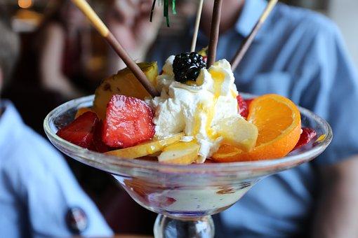 Fruit, Dessert, Food, Snack, Fragaria, Ice Cream