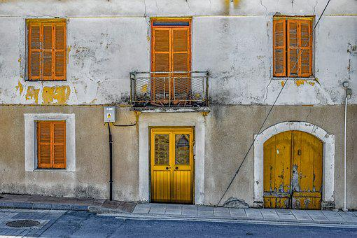 Architecture, House, Old, Facade, Entrance, Building