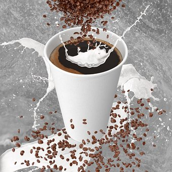 Cup, Coffee, Drink, Milk, Breakfast, Food