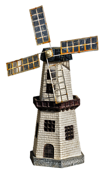 Windmill, Model, House, Ceramic House, Home, Ceramic