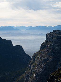 View From Table Mountain, Devil's Peak, Mountain