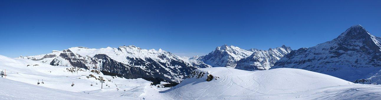 Snow, Winter, Panoramic Image, Cold, Mountain