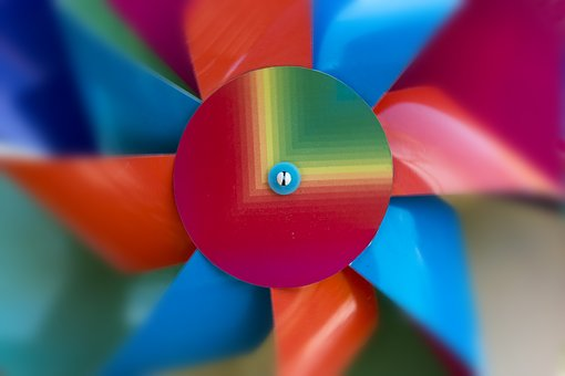 Pinwheel, Turn, Multi Coloured, Rainbow, Toys, Color