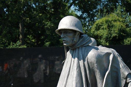 People, Man, Outdoors, Adult, Korean War Memorial