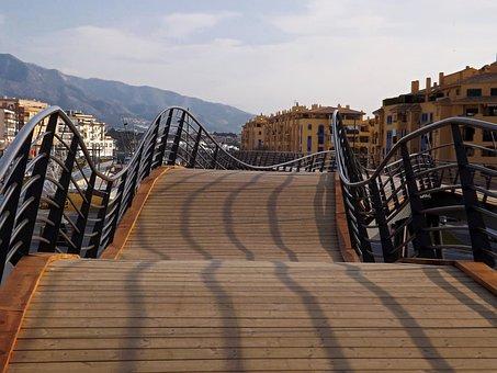 Wooden, Promenade, Panoramic, Travel, Architecture, Sky