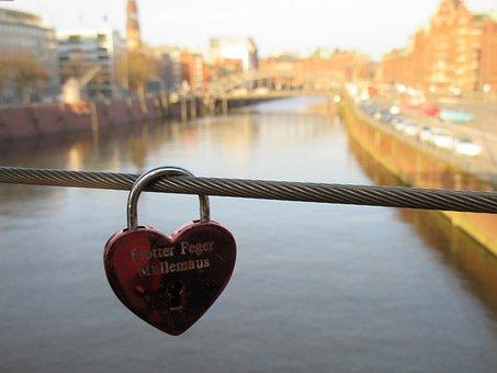 Hamburg, Waters, River, Bridge, Travel, Reflection
