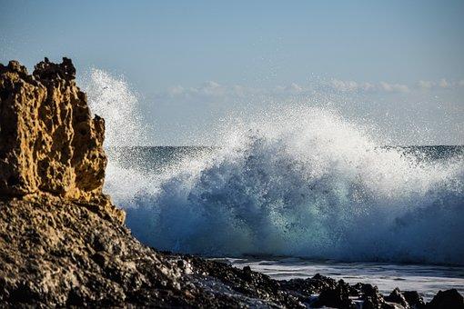 Wave, Smashing, Crashing, Spray, Water, Sea, Ocean