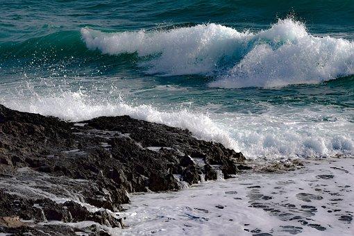 Wave, Surf, Water, Sea, Ocean, Rocky Coast, Splash