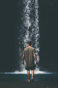 People, Water, Outdoors, Travel, Waterfall, Man, Nature