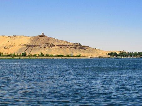 Water, Travel, Sea, Landscape, Seashore, Aswan, Egypt
