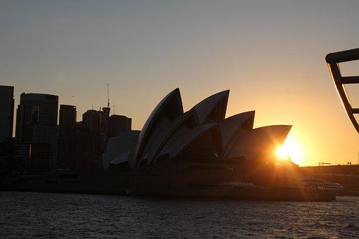 Sydney, Australia, Sunset, Opera House