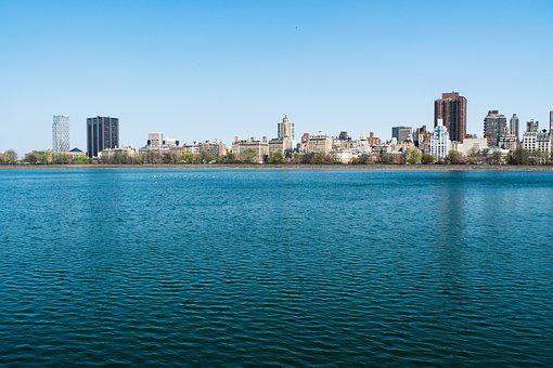 New York City, Central Park, Water, Architecture, City
