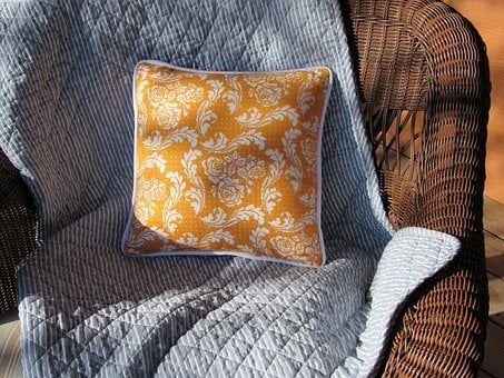 Cross Stitch, Pillow, Tangerine, Embroidery, Pattern