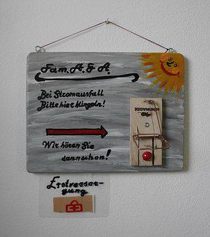 Door Bell, Door Sign, Hand Labor, Gift, Fun, Creativity