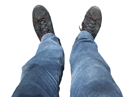 Legs, Feet, Shoes, Perspective, From Above