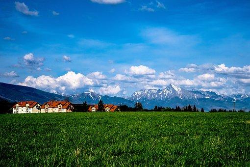 Krivan, Meadow, Heaven, Sky, Jamník, Village, Grass