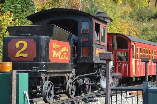 Train, Railroad Track, Locomotive, Railway