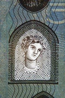 Twenty, Euro, Bill, Europe, Banknote, 20, Money