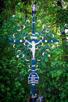 Tree, Plant, Leaf, Garden, Nature, Cross, Jesus