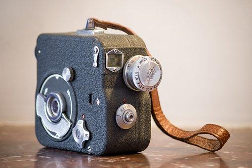 Camera, Film, Movie, Motion, Negative, Old, Vintage