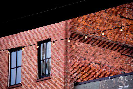 House, Window, Architecture, Brick, Old, Lights
