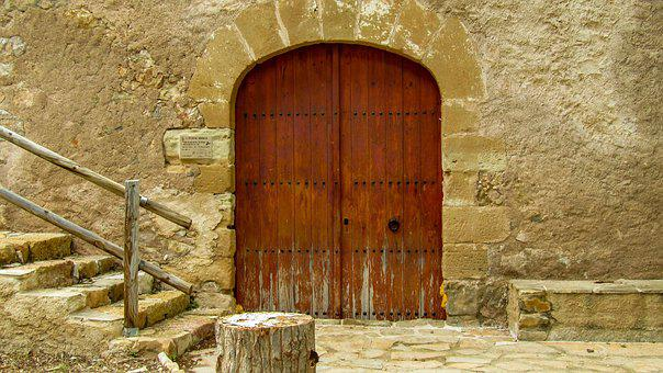 Prat De Comte, Door, Wall, Stone, Architecture, Old