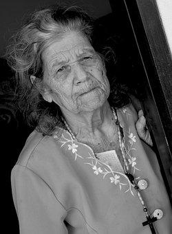 People, Portrait, One, Adult, Elder, Women, Face