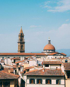 Architecture, Church, City, Travel, Old, Roof, Town