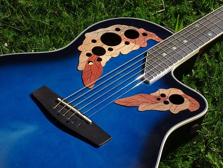 Guitar, Ornament, Round Back, Acoustic, Acoustic Guitar