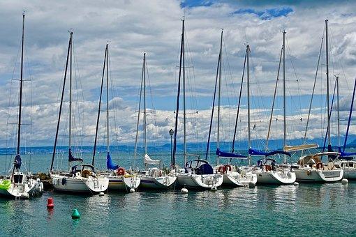 Yachts, Sailboats, Sea, Water, Harbor, Watercraft